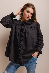 LILY MCBEE loose shirt with frills