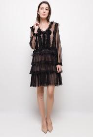 LILY MCBEE long sleeves plumetis dress