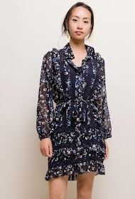 LILY MCBEE flowery dress with lace detail