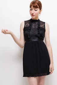 LILY MCBEE pleated dress