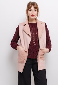 LIN&LEI casaco efeito camurça