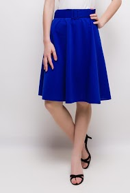LIN&LEI flared stretch skirt