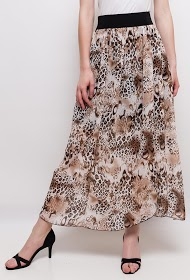 LIN&LEI printed long skirt
