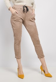 LIN&LEI crumpled-effect pants