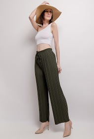 LIN&LEI wide pleated pants