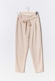 LIN&LEI belted fluid pants