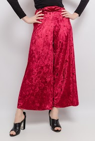 LIN&LEI wide velvet pants