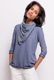 LIN&LEI fine sweater with scarf