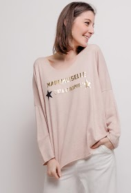 LIN&LEI fine sweater with message