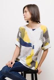 LIN&LEI loose printed blouse