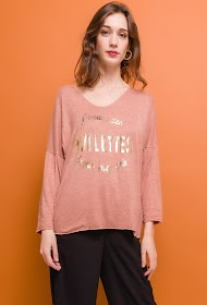 "LIN&LEI fine sweater ""i want glitter in my life"""