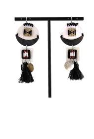 LOLILOTA round earrings metal nacre
