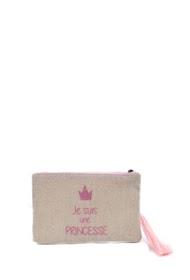 """LOLILOTA glitter fabric pouch """"i am a princess"""" s"""