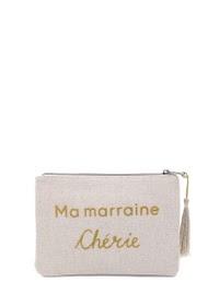 """LOLILOTA glitter fabric pouch """"ma marraine chérie"""" xl"""