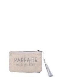 "LOLILOTA ""perfect glitter fabric pocket with pretty flaws"" s"