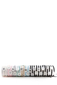 24U steel bracelets, various patterns per 24pcs