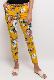 LOOKING white flower pants