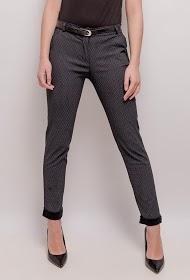 LOOKING calças plissadas