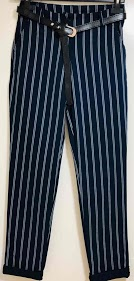 LOOKING trousers with double stripe
