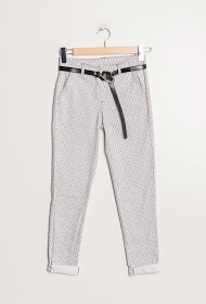 LOOKING triangle print trousers