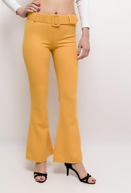 LOOKING flared trousers with belt