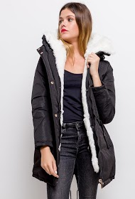LOOKING filled parka