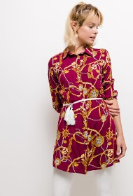 LOOKING tunic printed chain