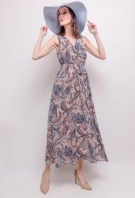 LILIE ROSE long printed dress