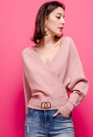 LOVIE LOOK wrap sweater