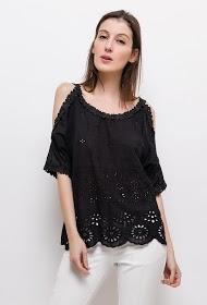 LOVIE LOOK perforierte bluse