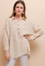 LOVIE LOOK gylden mønster skjorte