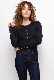 LOVIE LOOK buttoned knit vest