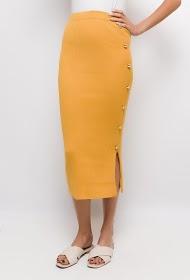 LOVIE LOOK button knit skirt