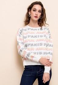 LOVIE LOOK print sweater amour paris