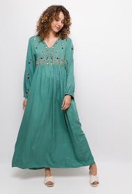 LOVIE LOOK long dress with embroidery