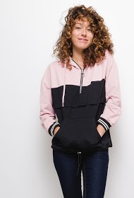 LOVIE LOOK hooded bicolor sweatshirt