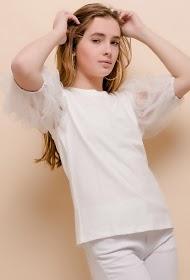 LOVIE LOOK t-shirt with balloon sleeves