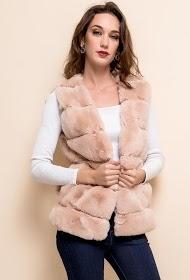 LOVIE LOOK veste sans manches en fourrure
