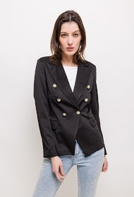 LUCKY 2 blazer with gold buttons