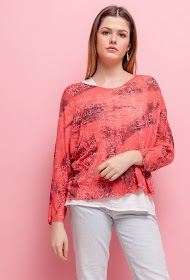 LUCKY 2 printed blouse