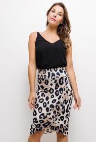 LUCKY 2 leopard stretch skirt