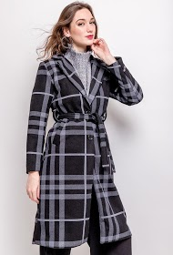 LUCKY 2 checked coat
