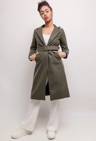 LUCKY 2 coat with belt
