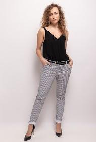 LUCKY 2 mønstret bukser med bælte