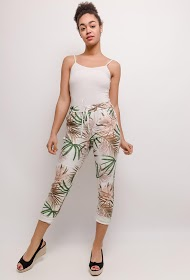 LUCKY 2 printed casual pants