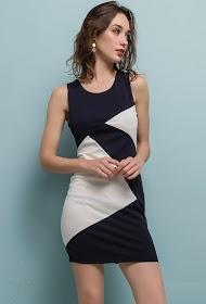 LUCKY 2 vestido bicolor