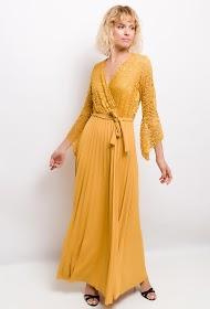 LUCKY 2 pleated long dress