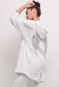 LUCKY 2 angel wings sweatshirt