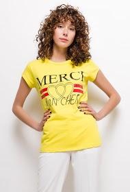 LUCKY 2 t-shirt merci mon cheri