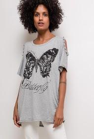 LUCKY 2 butterfly t-shirt